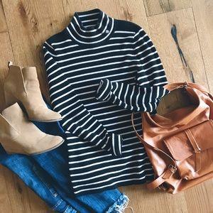 Ralph Lauren mock neck striped sweater